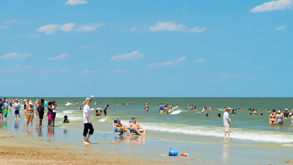 Tybee Island Beach which includes general coastal views, a beach and swimming