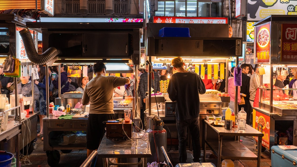 Ningxia Night Market which includes interior views and markets as well as a couple