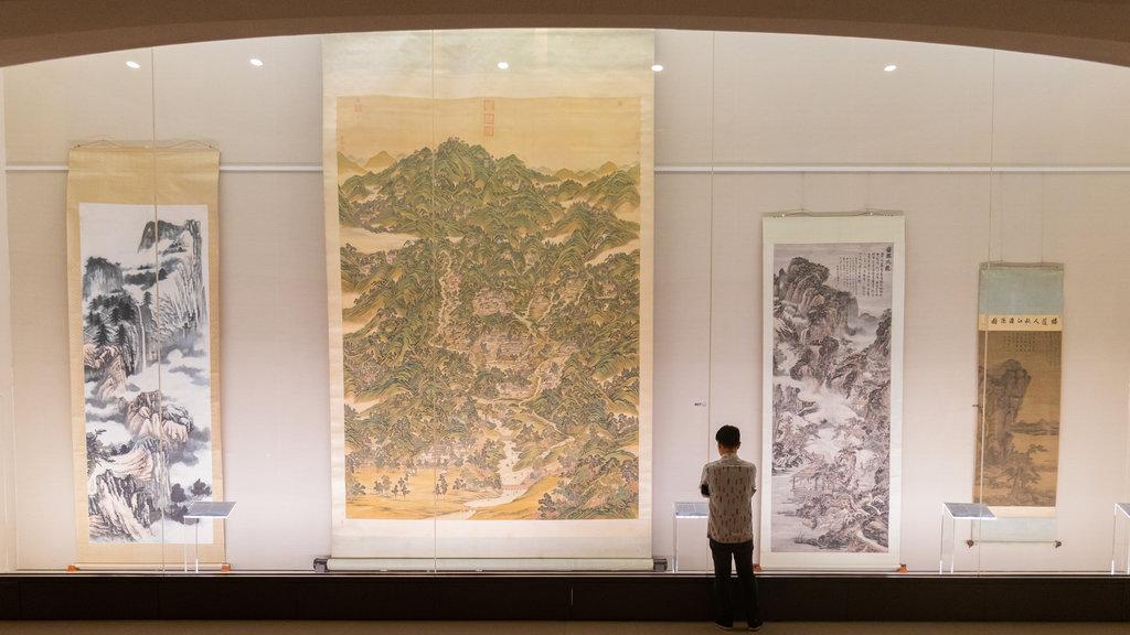 Museo del Palacio Nacional que incluye vistas interiores y elementos del patrimonio y también un hombre