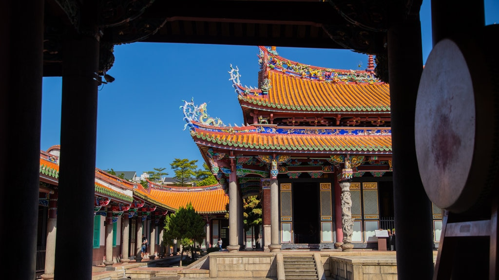 Taipei Confucius Temple showing heritage architecture and a temple or place of worship