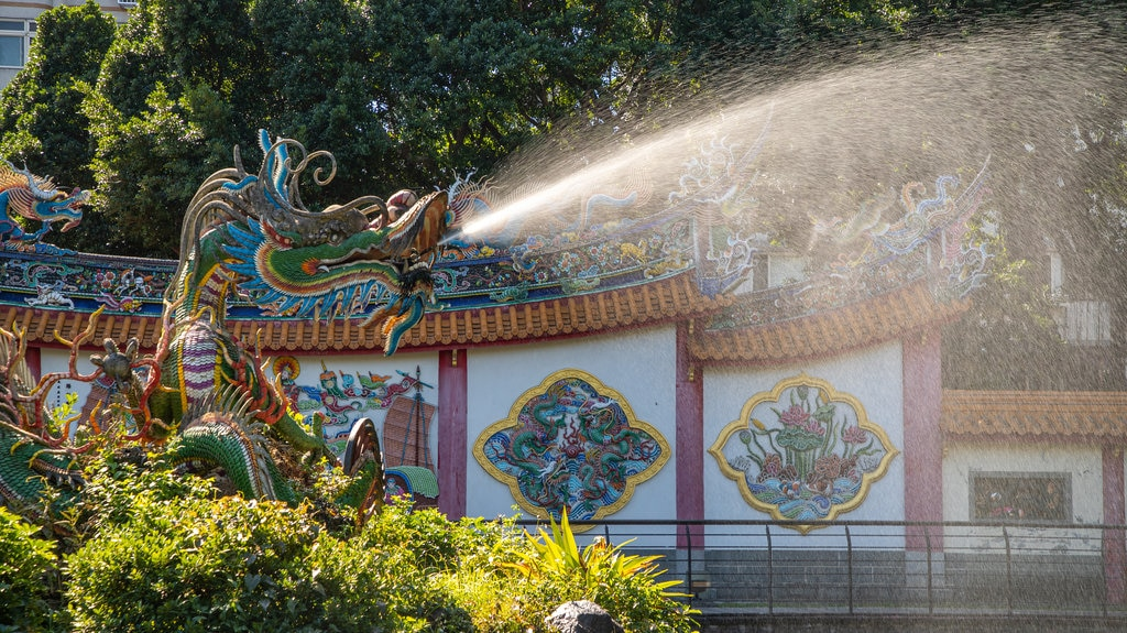 Taipei Confucius Temple featuring a fountain and heritage elements