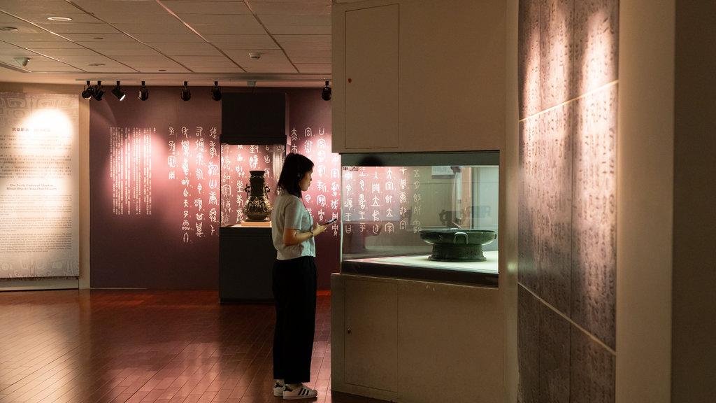 Museo del Palacio Nacional ofreciendo vistas interiores y también una mujer