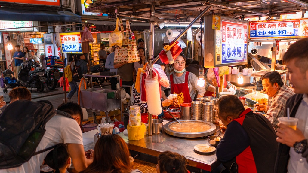 Ningxia Night Market featuring street scenes, markets and night scenes