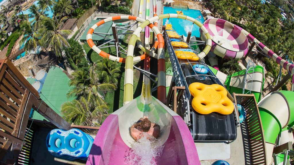 Beach Park Water Park showing a waterpark as well as an individual male