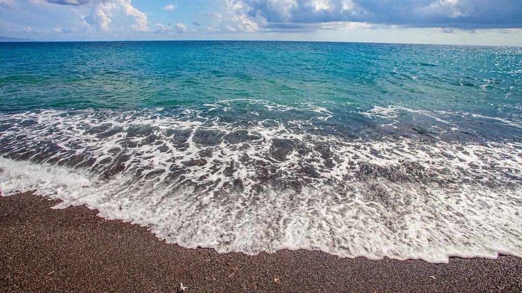 Santorini featuring general coastal views
