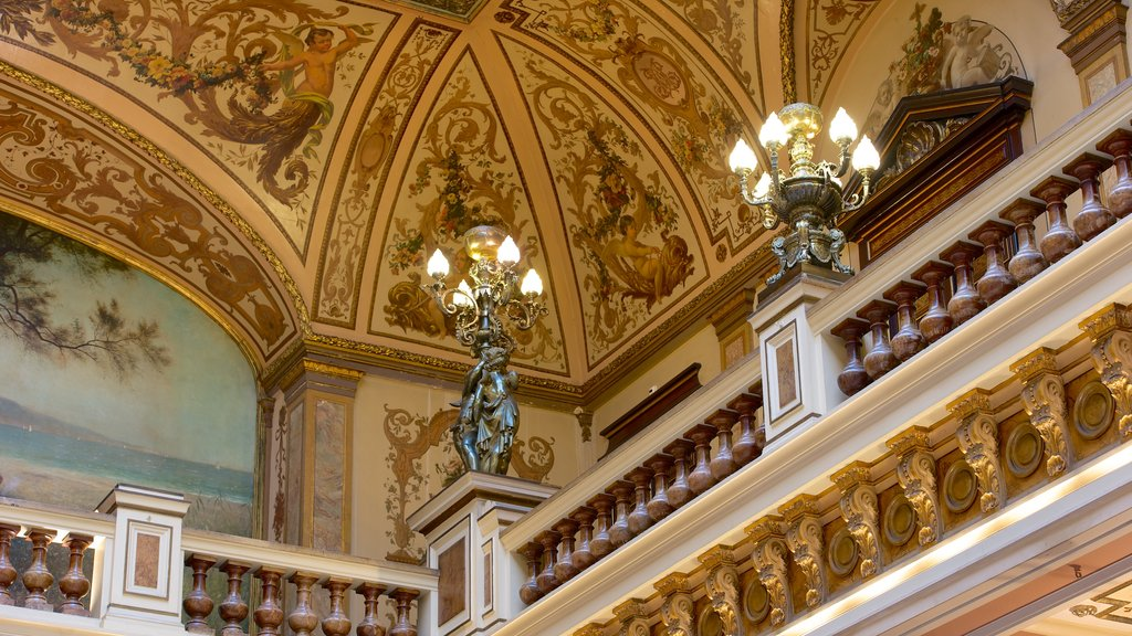 Casino Monte Carlo showing heritage elements and interior views