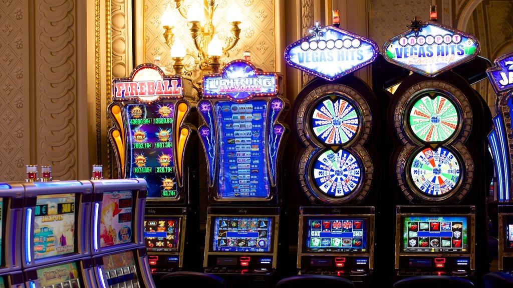 Casino Monte Carlo showing interior views and a casino