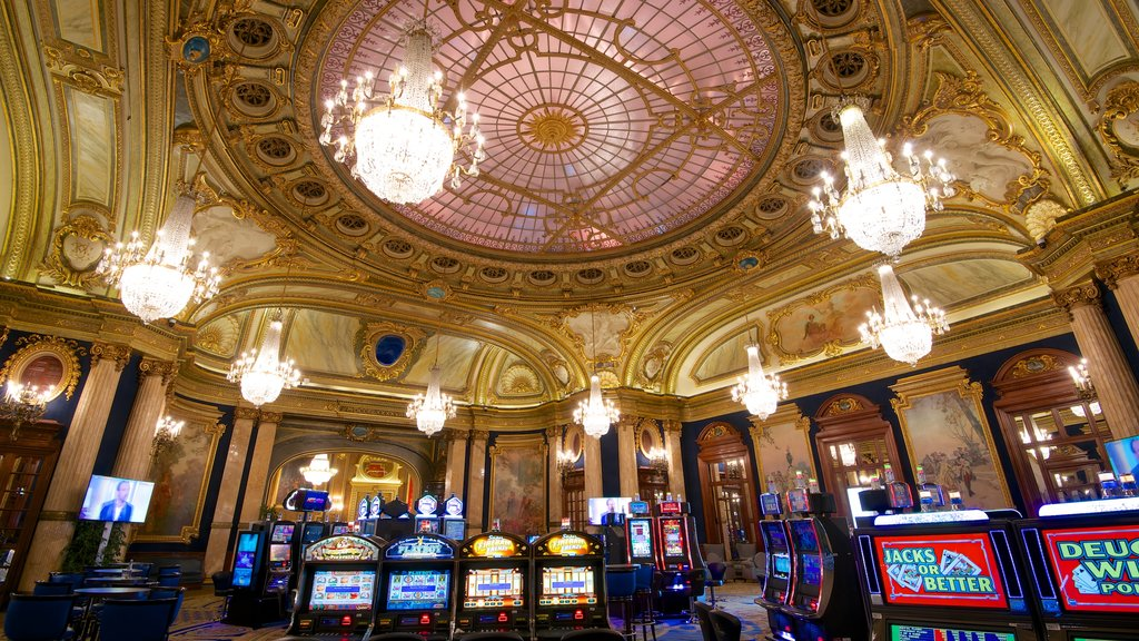 Casino Monte Carlo showing interior views, a casino and heritage elements