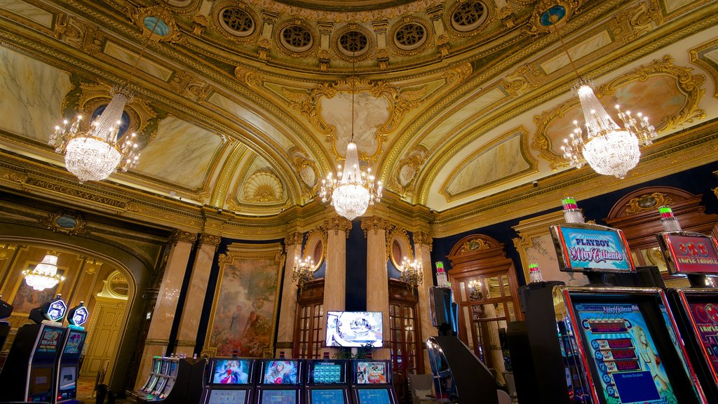 Casino Monte Carlo which includes a casino, heritage elements and interior views