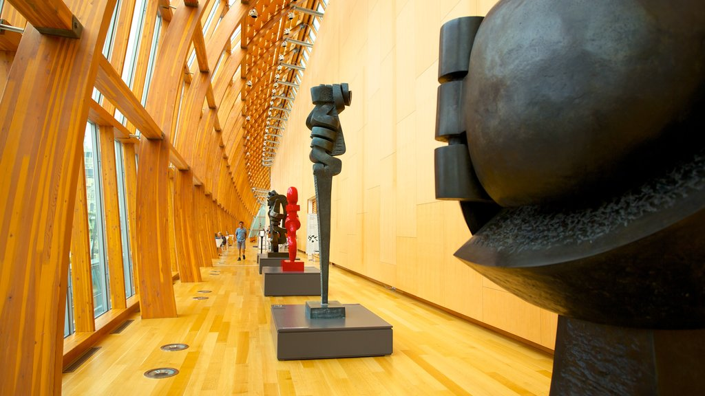 Art Gallery of Ontario showing art, interior views and modern architecture