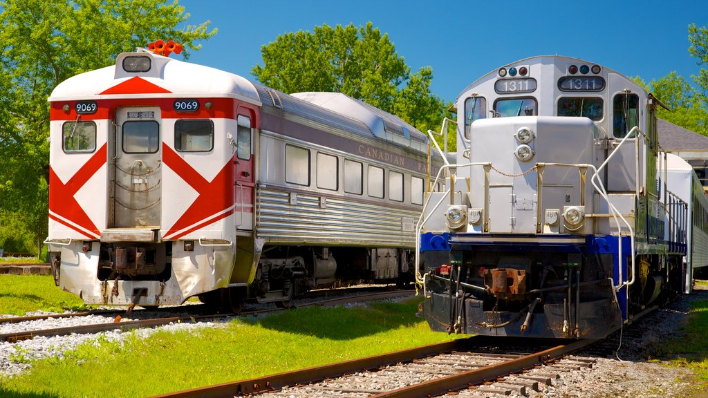 Canadian Railway Museum showing railway items