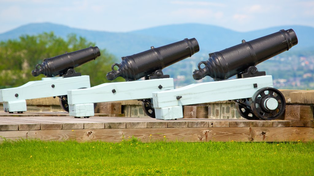 Citadelle of Quebec showing military items and heritage elements