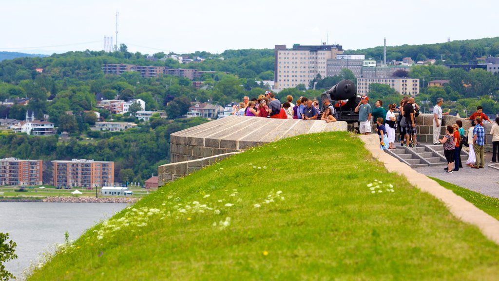 Citadelle of Quebec featuring general coastal views, views and a city