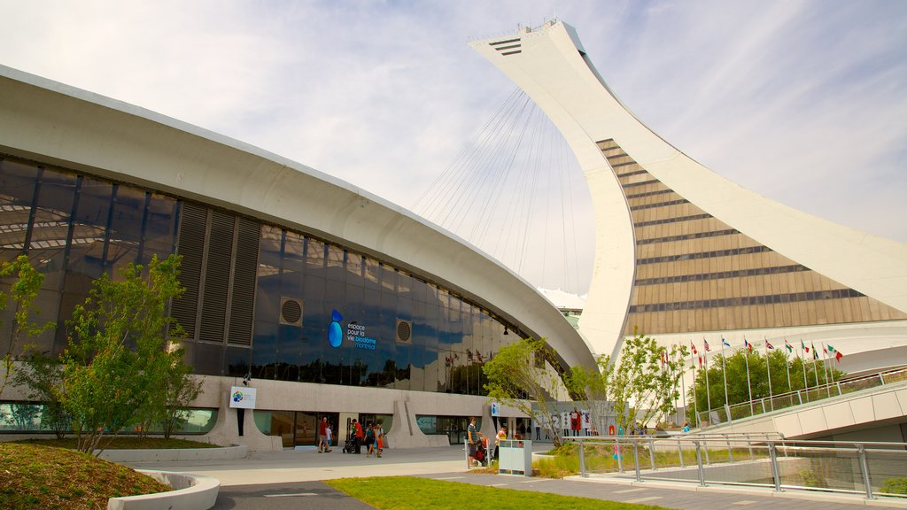 Montreal Biodome which includes modern architecture