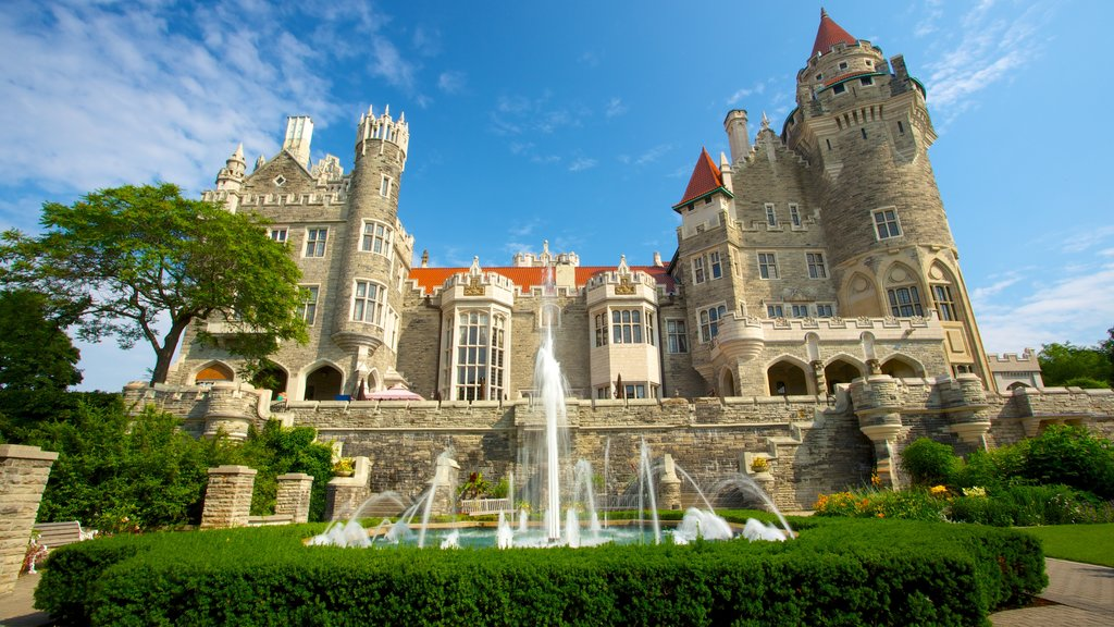 Casa Loma featuring a garden, a castle and heritage elements