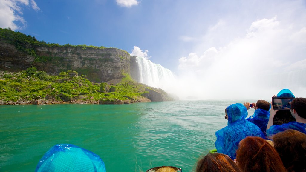 Maid of the Mist showing views, a river or creek and a cascade