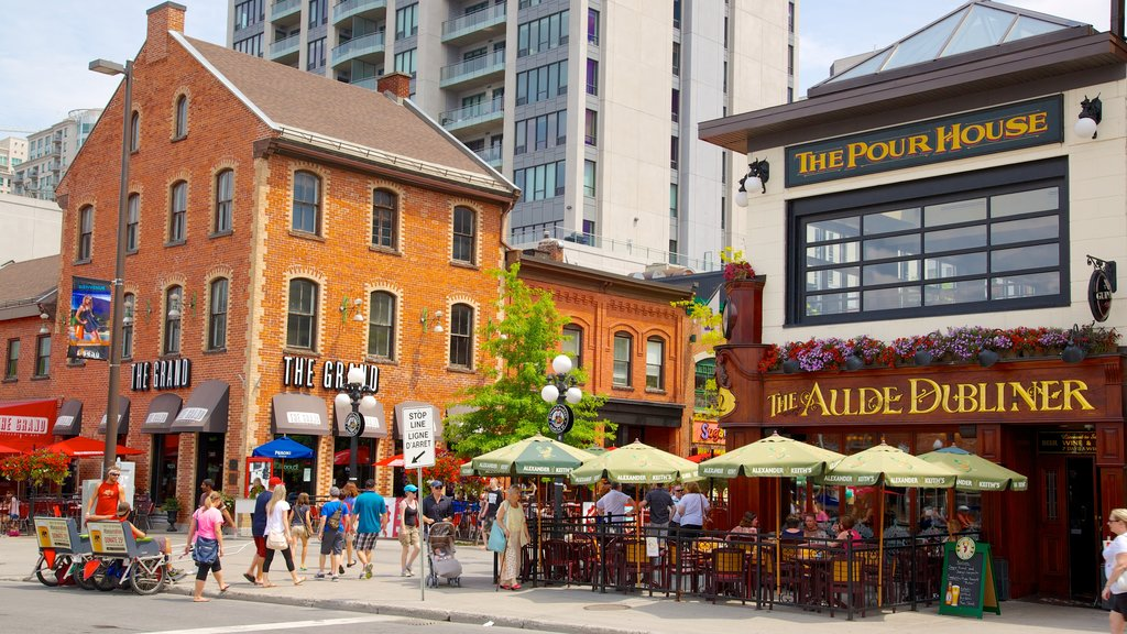 Byward Market featuring markets, outdoor eating and street scenes