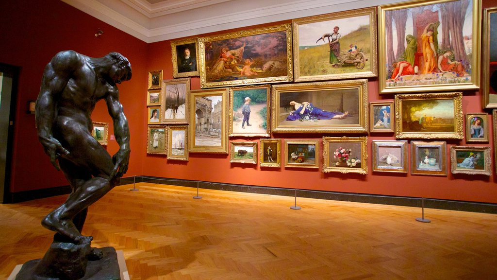 Art Gallery of Ontario showing art, a statue or sculpture and interior views