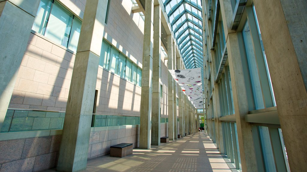 National Gallery of Canada which includes modern architecture and interior views