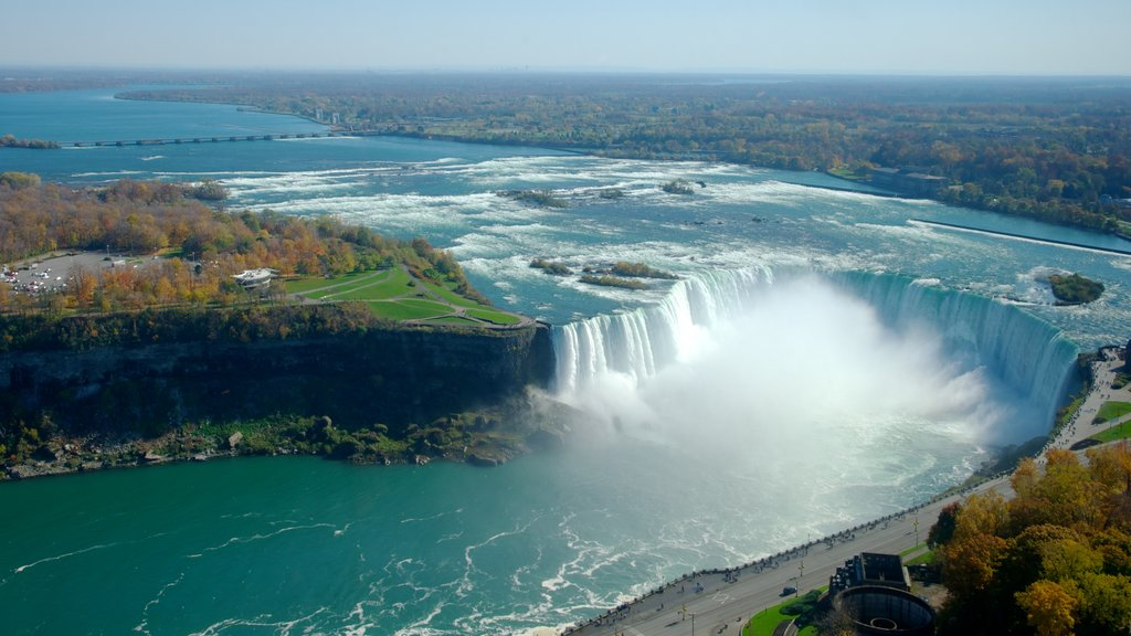 Horseshoe Falls which includes a cascade and a river or creek