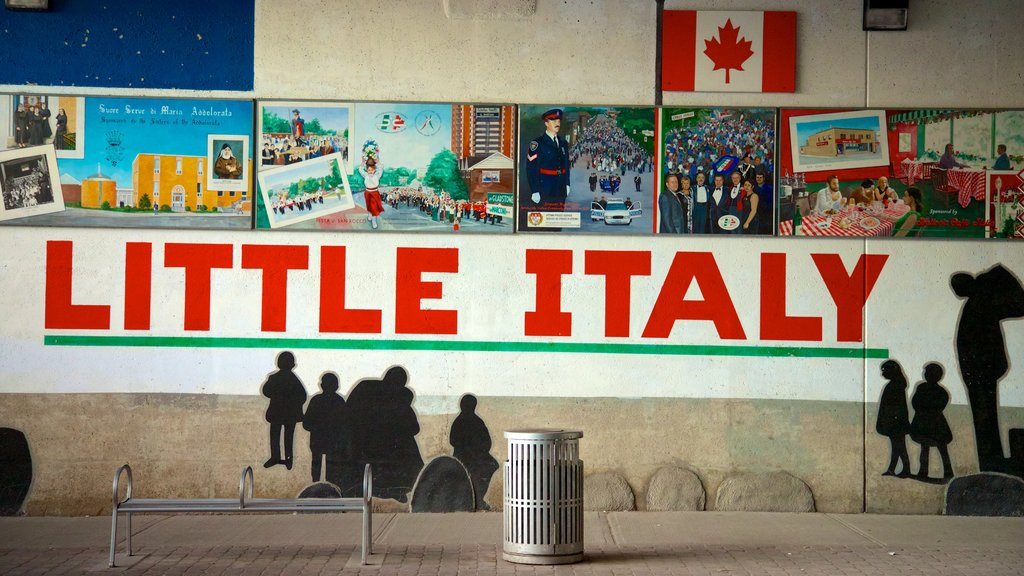 Little Italy featuring a city, signage and outdoor art