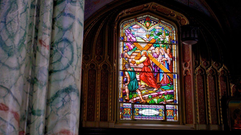 Notre-Dame Cathedral Basilica which includes heritage architecture, religious elements and a church or cathedral
