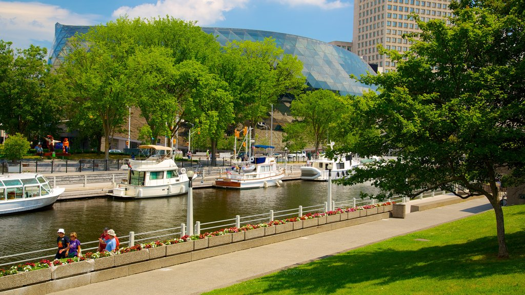 Rideau Canal which includes a marina, boating and a city