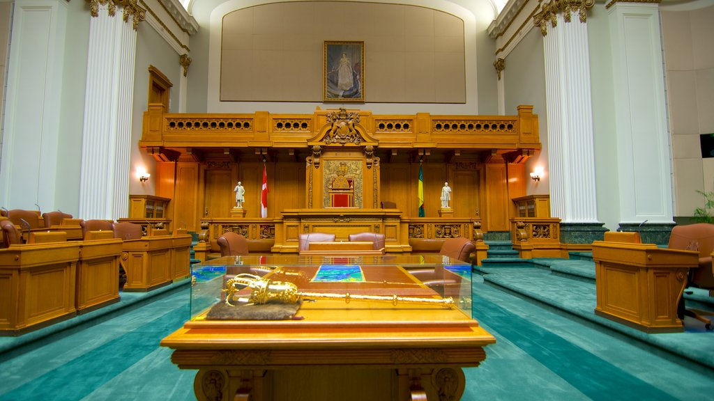 Saskatchewan Legislative Building which includes interior views, heritage architecture and an administrative buidling