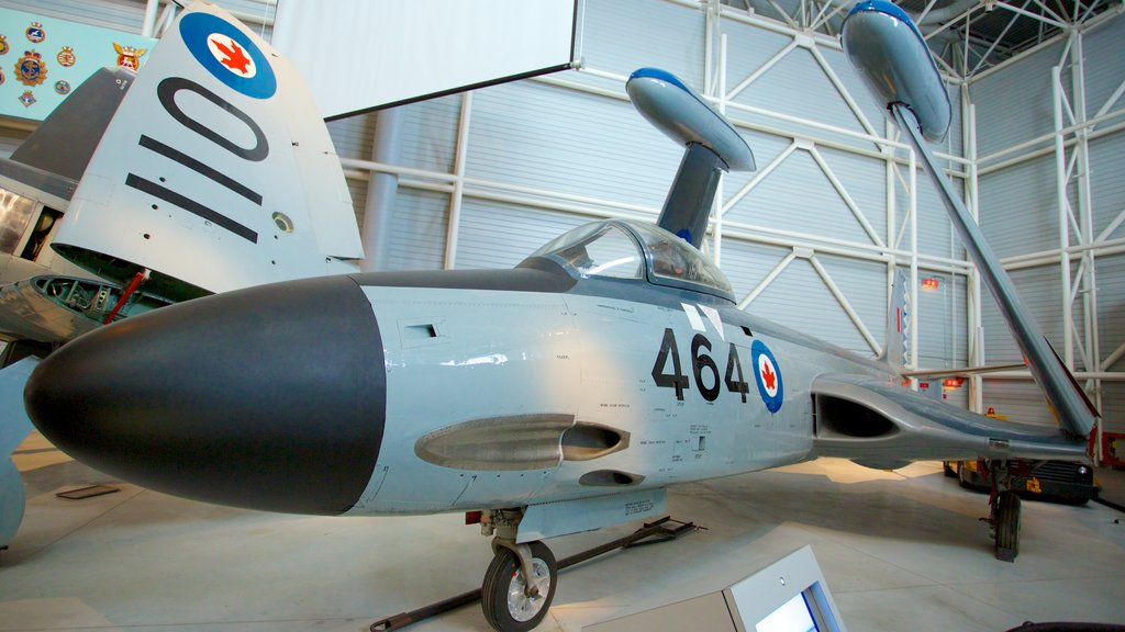 Canada Aviation and Space Museum showing aircraft and interior views