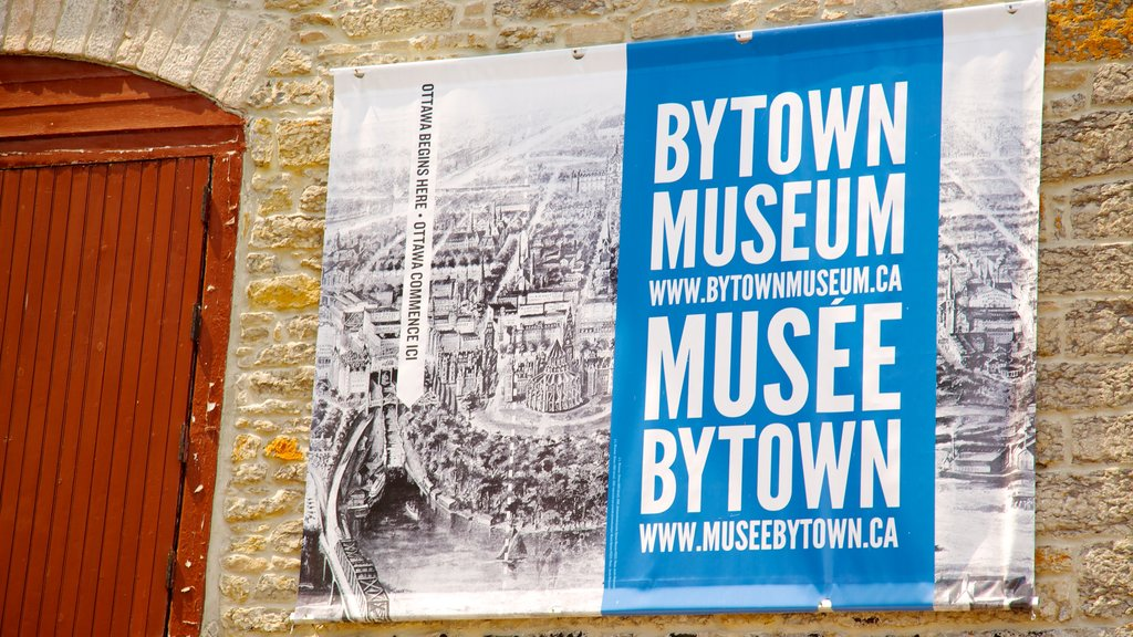 Bytown Museum showing signage