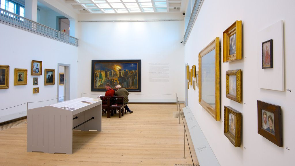 Skagens Museum featuring art and interior views