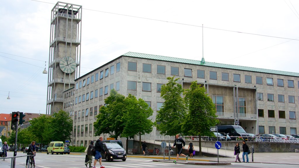 Aarhus City Hall which includes street scenes and a city