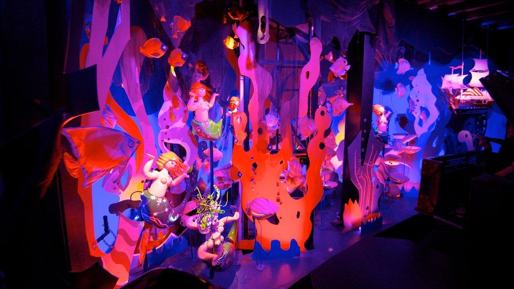 Tivoli Gardens featuring rides and interior views