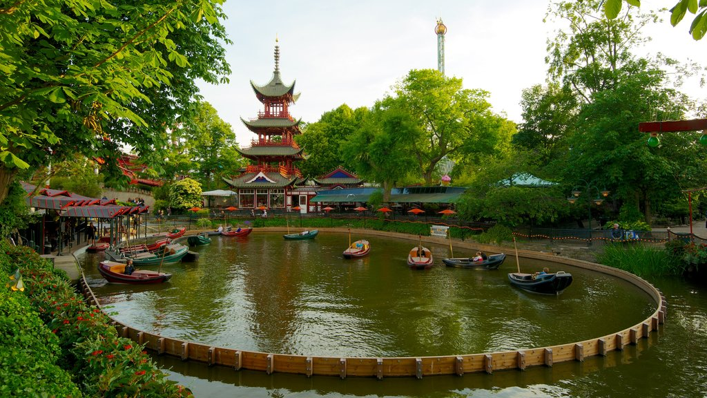 Tivoli Gardens featuring watersports, a pond and rides