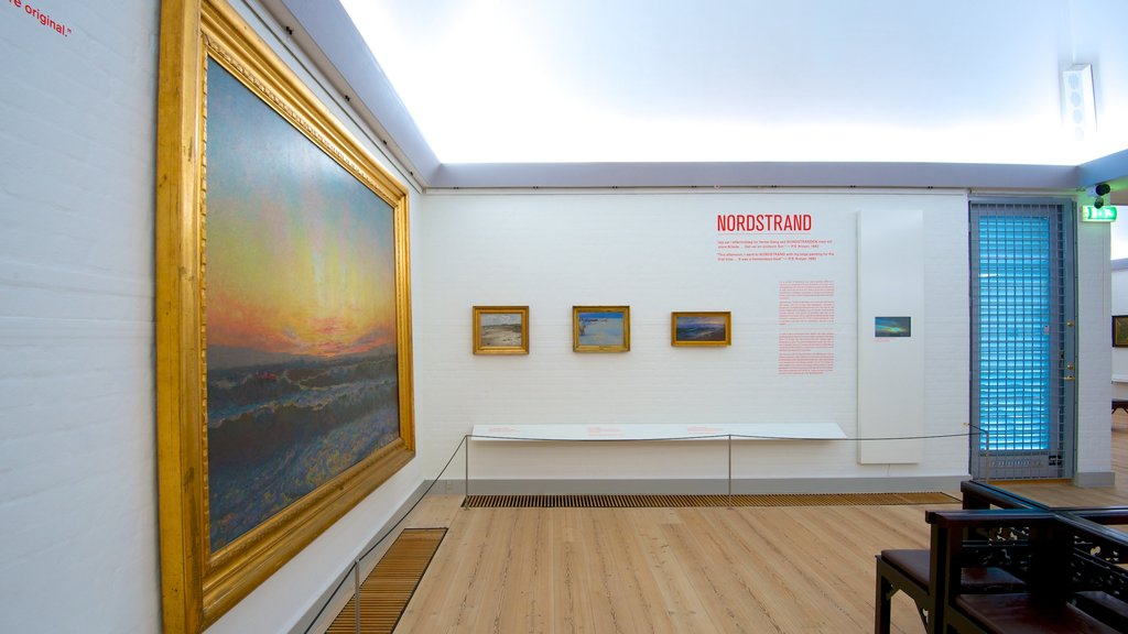 Skagens Museum showing art and interior views