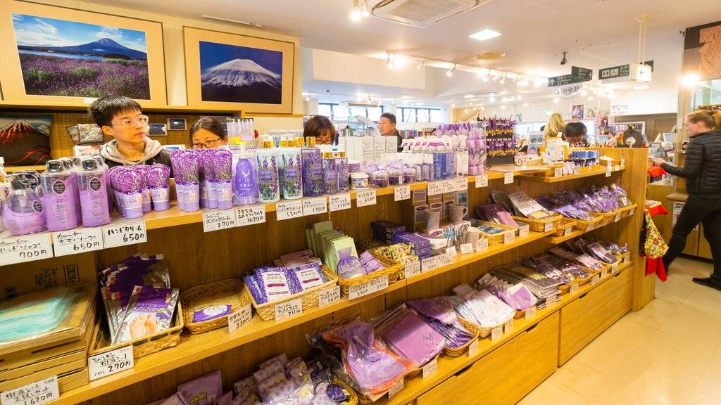 Kawaguchiko Natural Living Center showing shopping and interior views