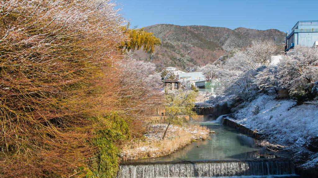 Hakone showing a river or creek