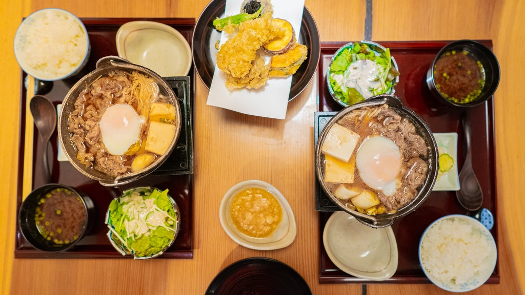 Hakone featuring dining out and food