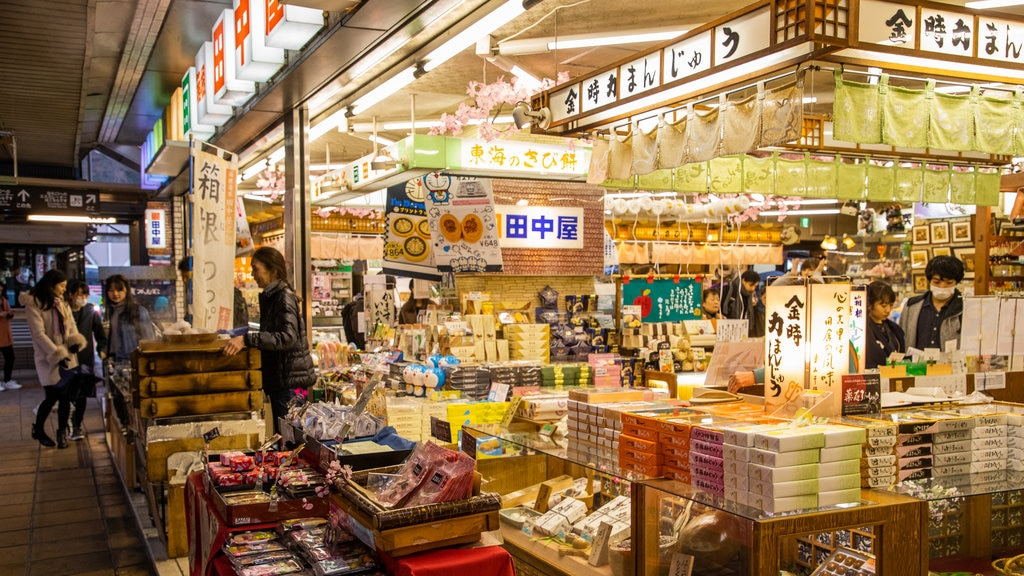 Hakone Hot Springs featuring markets as well as an individual femail