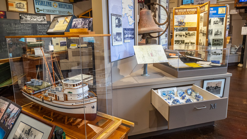 Bainbridge Island Historical Museum showing interior views