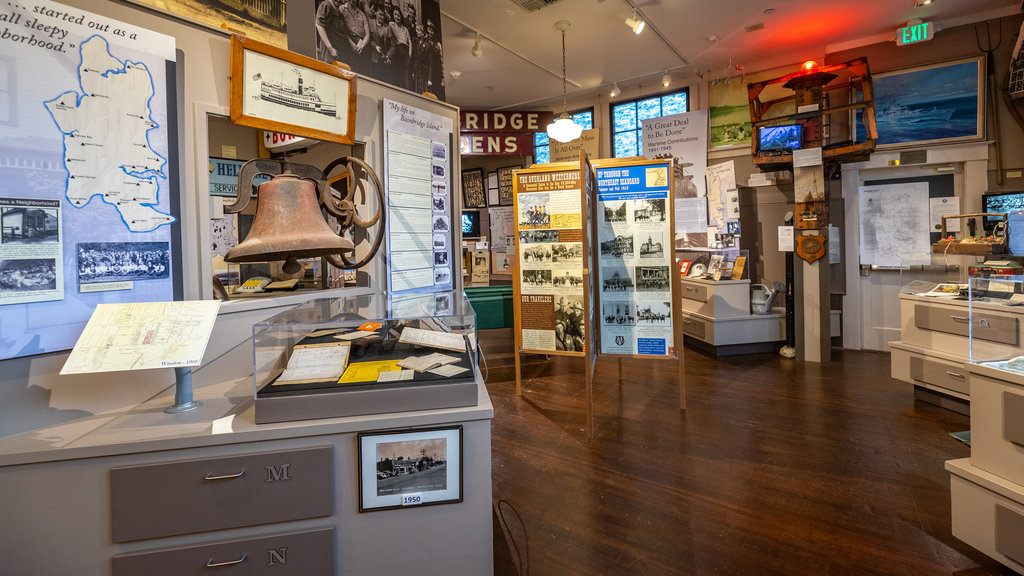 Bainbridge Island Historical Museum which includes interior views