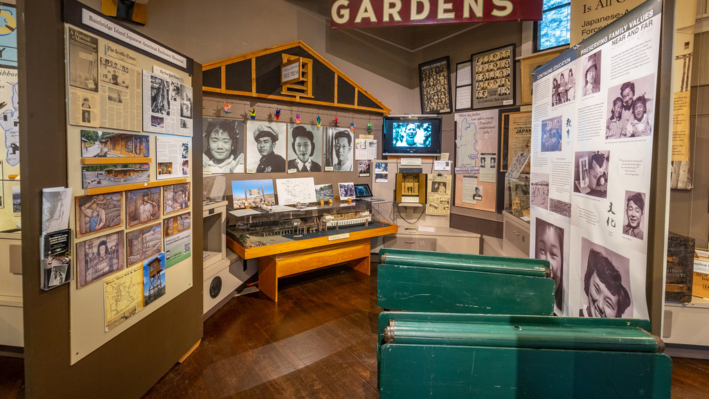 Bainbridge Island Historical Museum featuring interior views