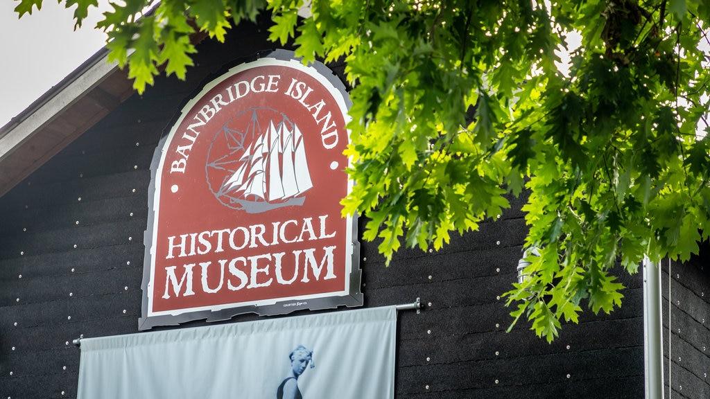 Bainbridge Island Historical Museum featuring signage
