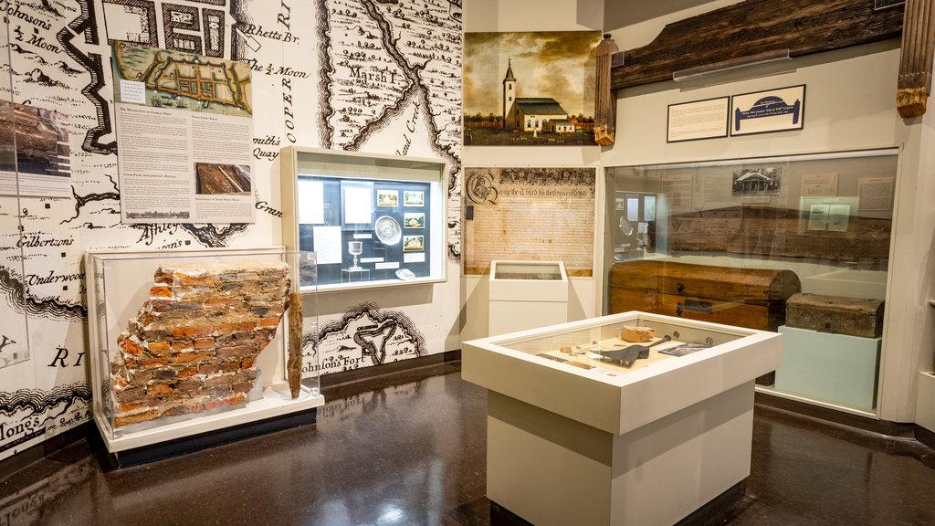 Charleston Museum showing interior views