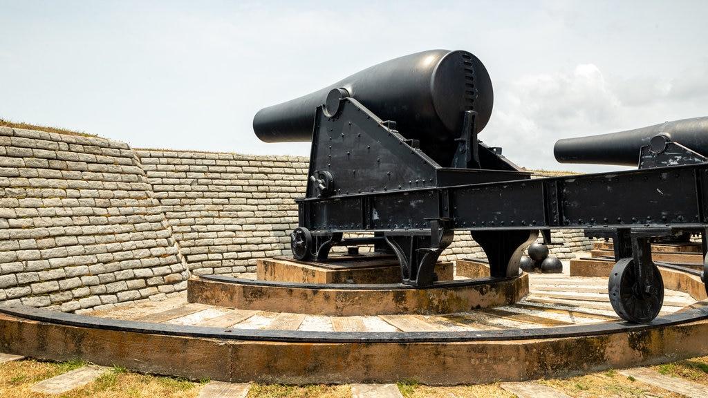 Fuerte Moultrie ofreciendo elementos del patrimonio y artículos militares