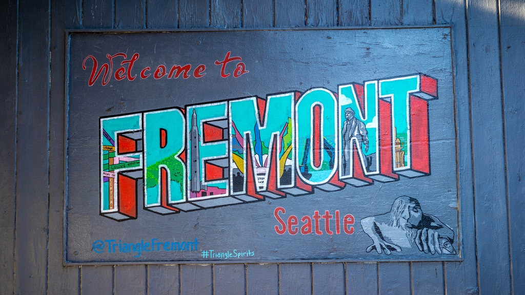 Fremont which includes signage