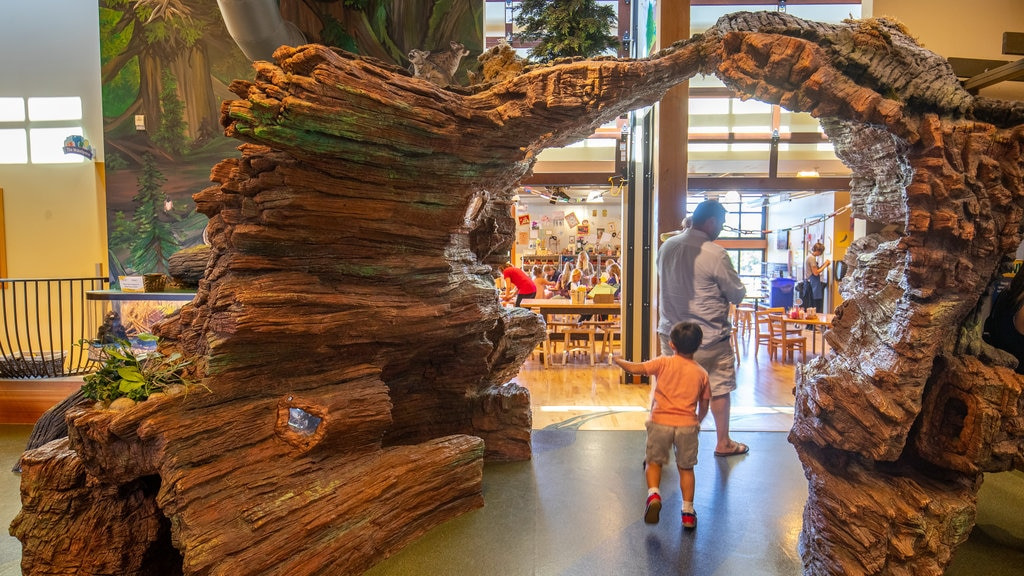 Hands On Children\'s Museum featuring interior views as well as a family