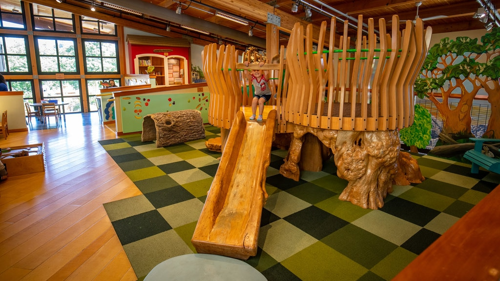 Hands On Children\'s Museum which includes a playground and interior views as well as an individual child