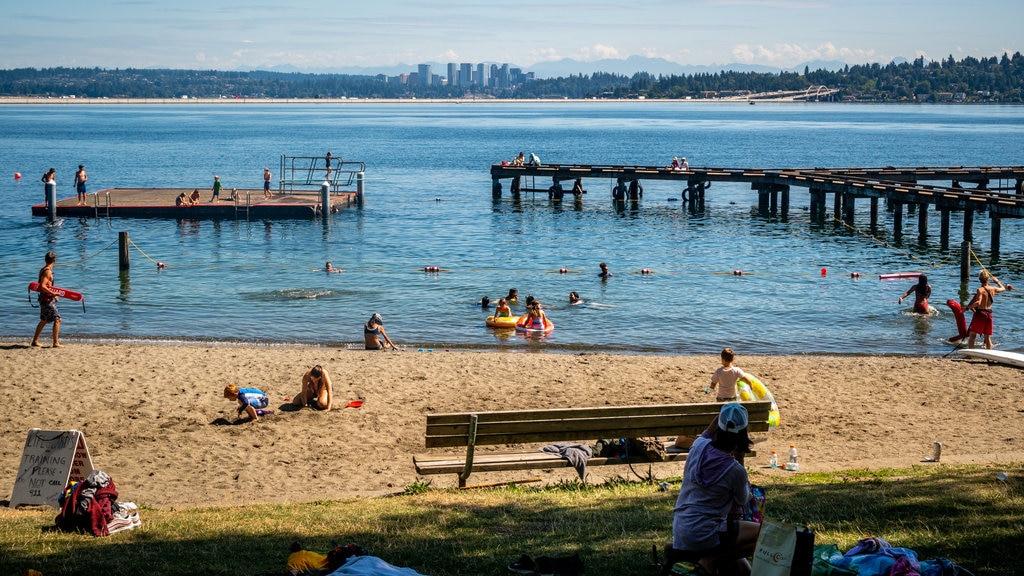 Mount Baker Beach featuring a beach, general coastal views and swimming