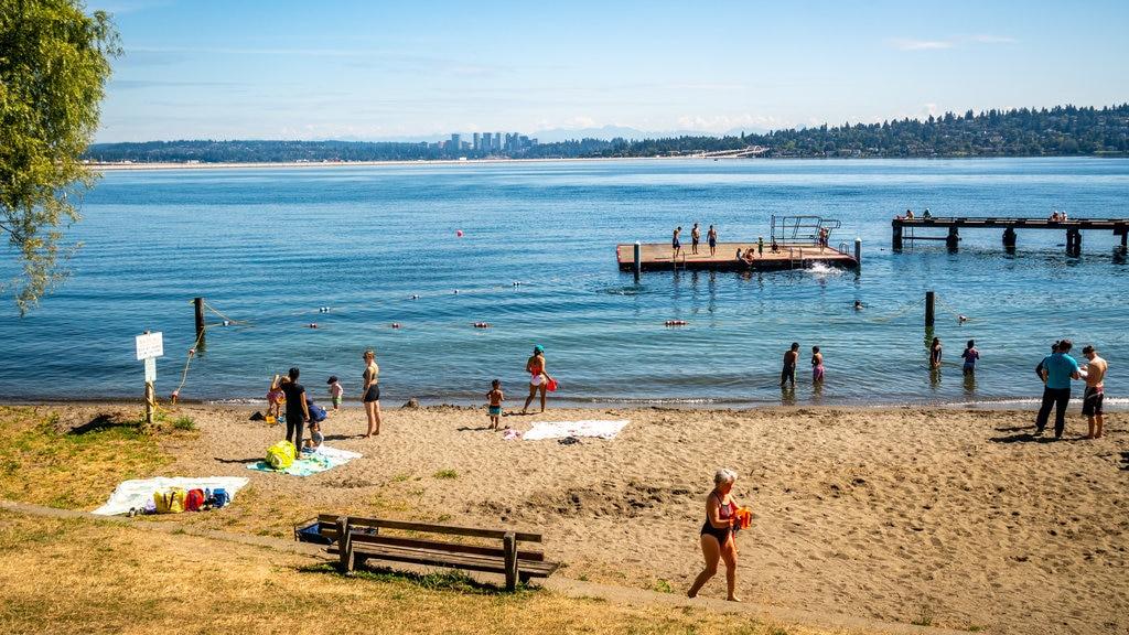 Mount Baker Beach featuring general coastal views and a sandy beach